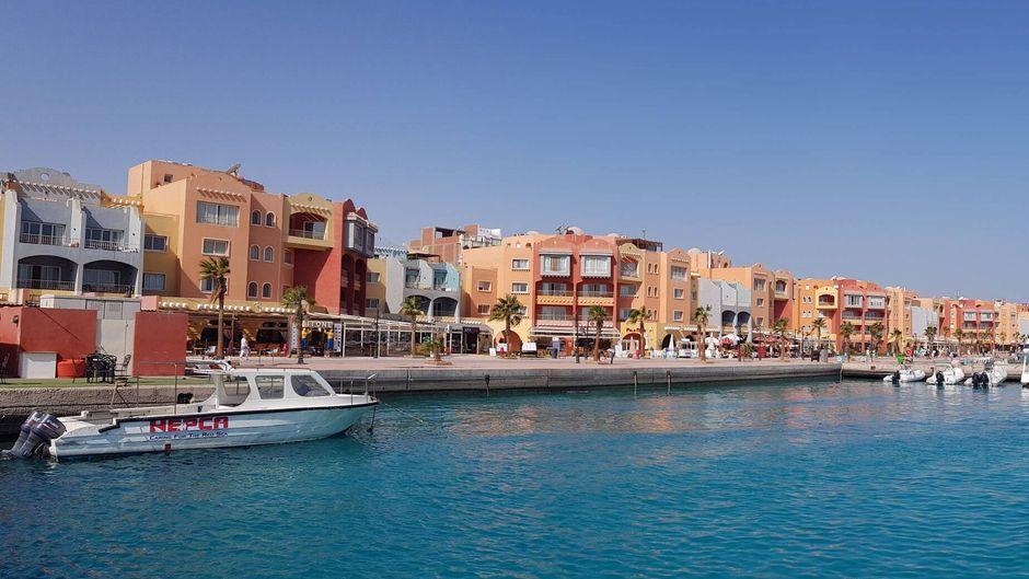 Hurghada gilt als touristische Hochburg: Hier gibt es zahlreiche Hotels.