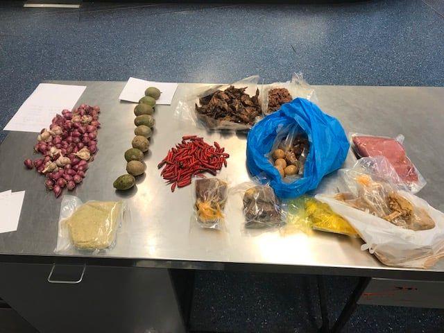 Unerlaubte Lebensmittel am Flughafen in Sydney.