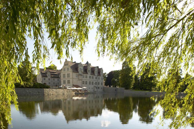 Der Teichflügel des Schlosshotel Münchhausen ist besonders schön.