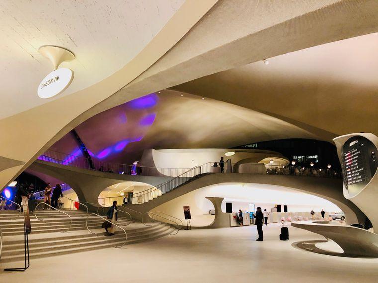 """Das TWA-Gebäude wurde auch als Drehort für """"Catch Me If You Can"""" mit Leonardo DiCaprio genutzt."""