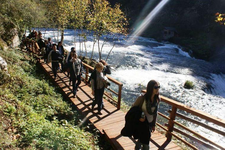 Auf den neuen Holzwegen können Besucher den Park entdecken.