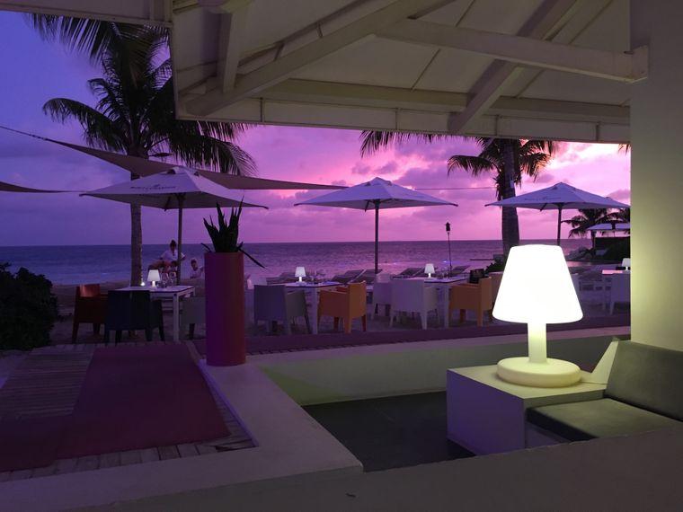 Der Blick aus dem Restaurant Papagayo auf Curaçao