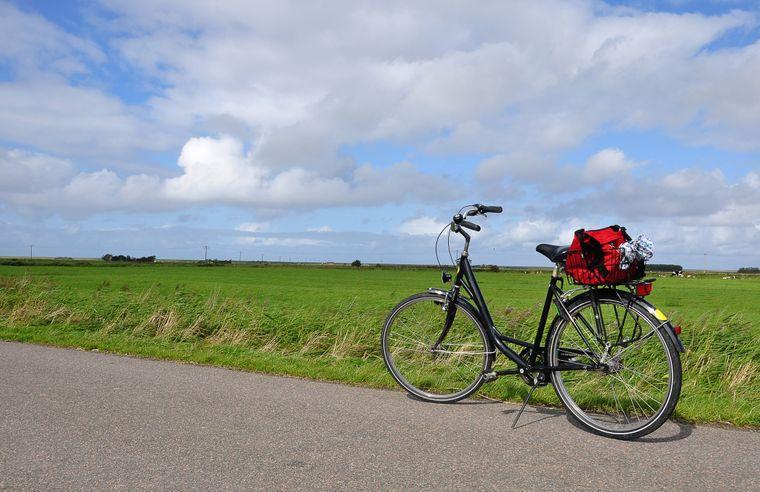 Fahrrad-Pause auf Föhr.