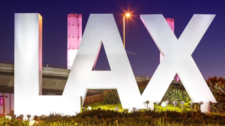 Der LAX ist der weltberühmte Flughafen von Los Angeles.