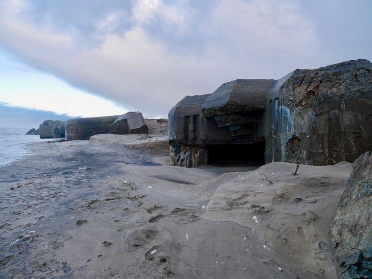 Bunker am Houvig-Strand.