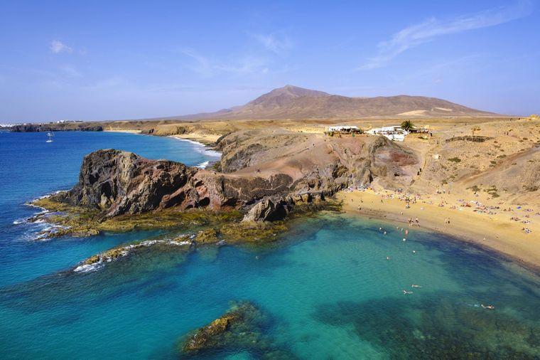 Playa de Papagayo auf Lanzarote.