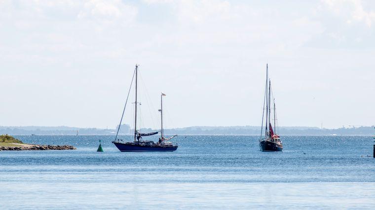 Segelboote auf der Ostsee vor Neustadt.