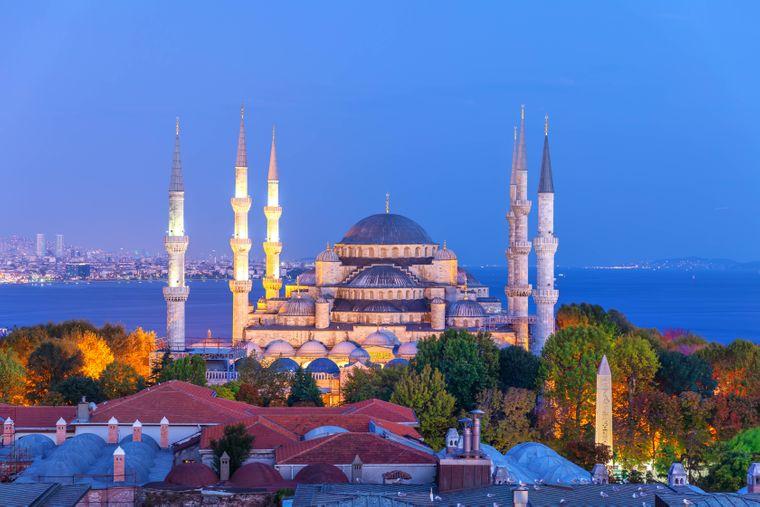 Die Sultan Ahmed Moschee in Istanbul.