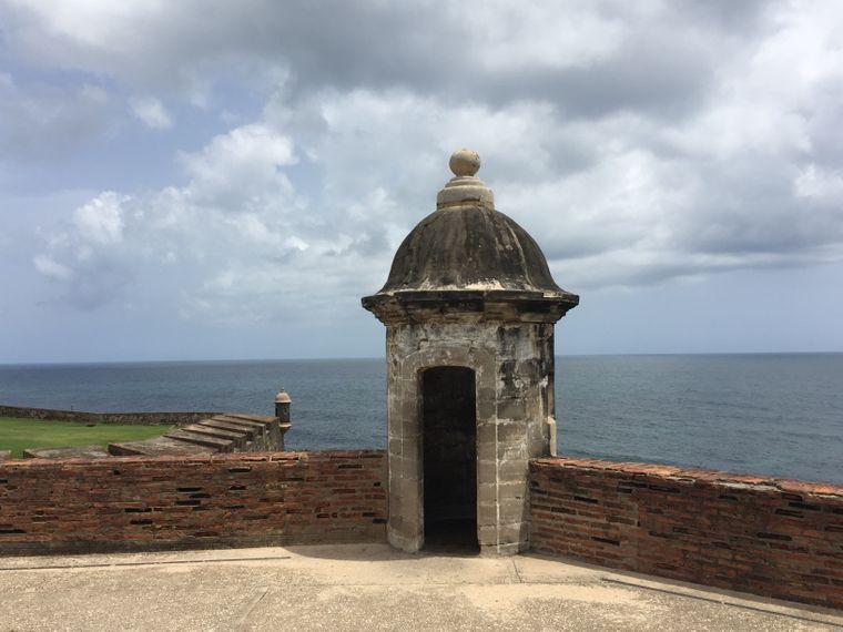 Meerblick vom Fort San Cristóbal, Puerto Rico.