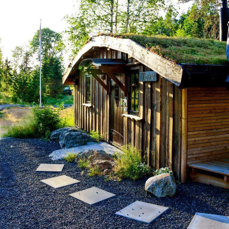 Tiny House Torv in Norwegen erinnert an ein Hobbithaus.