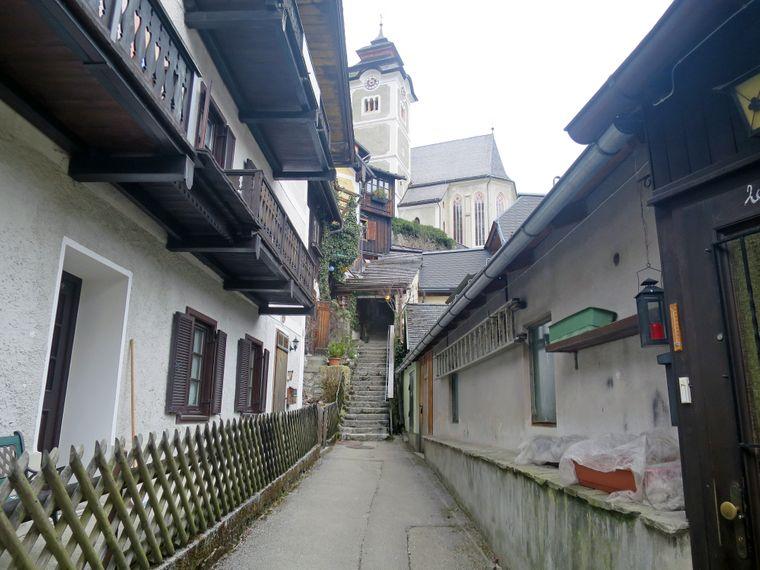 Impression aus dem 780-Einwohner-Dorf Hallstatt in Österreich.