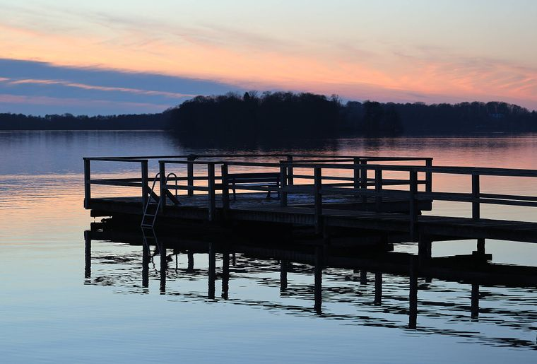 Sonnenuntergang am Großen Plöner See.