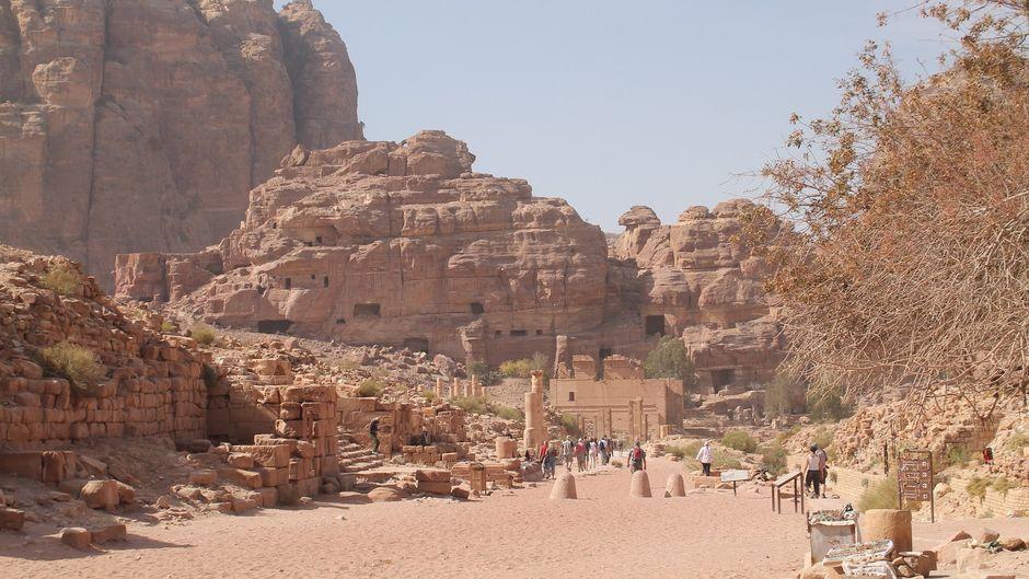 Der Eingang zur Felsenstadt Petra.