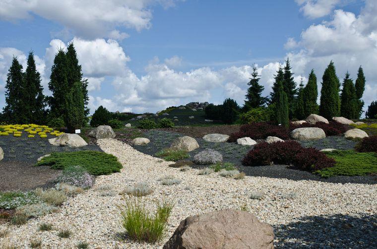 Der Findlingspark in Nochten ist die Rekultivierung des Braunkohletagebaus.