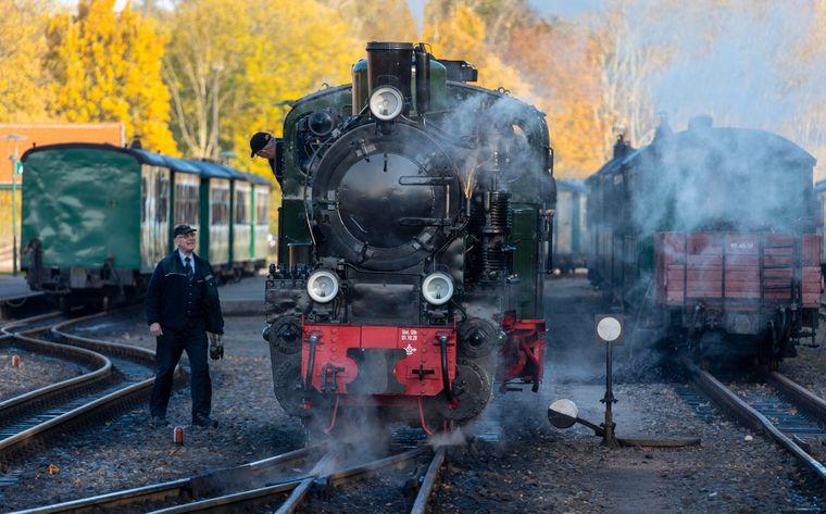 Dampflok für Inselbahn auf Rügen.