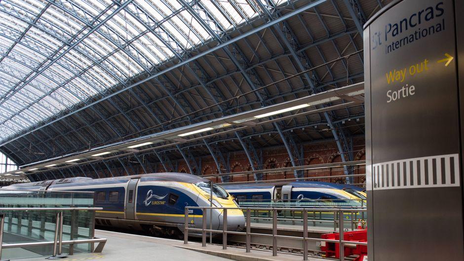 Von dem Bahnhof St Pancras könnten bald Schnellzüge von Eurostar nach Köln und Frankfurt fahren.