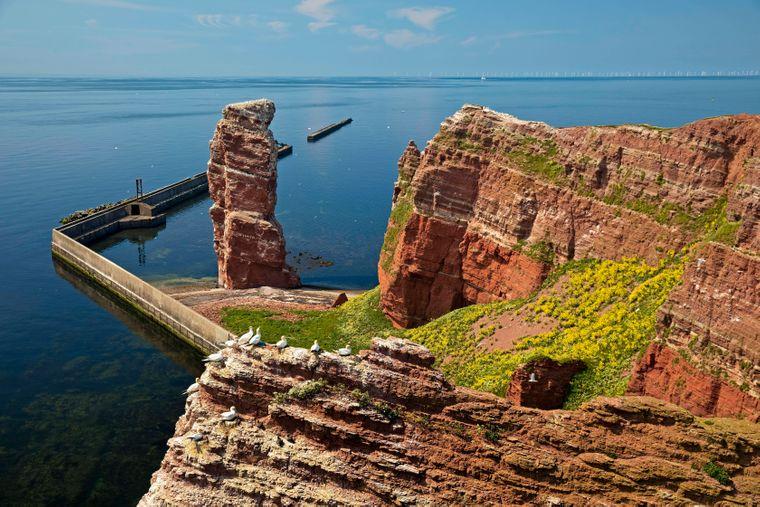 Die Lange Anna auf der Nordseeinsel Helgoland kennt weder Autolärm noch Abgase.