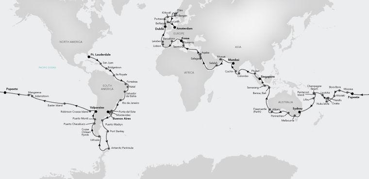 Die Silversea-Kreuzfahrt führt auf alle sieben Kontinente der Erde.