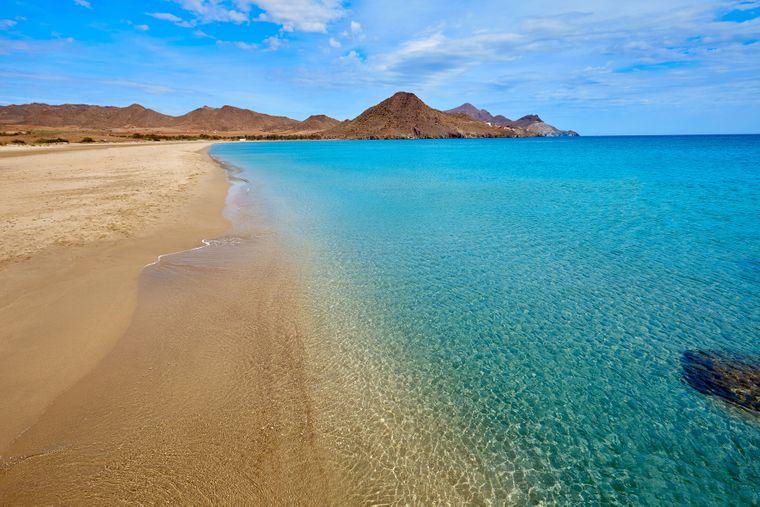 Almeria Playa de los Genoveses: der ewig lange Sandstrand.