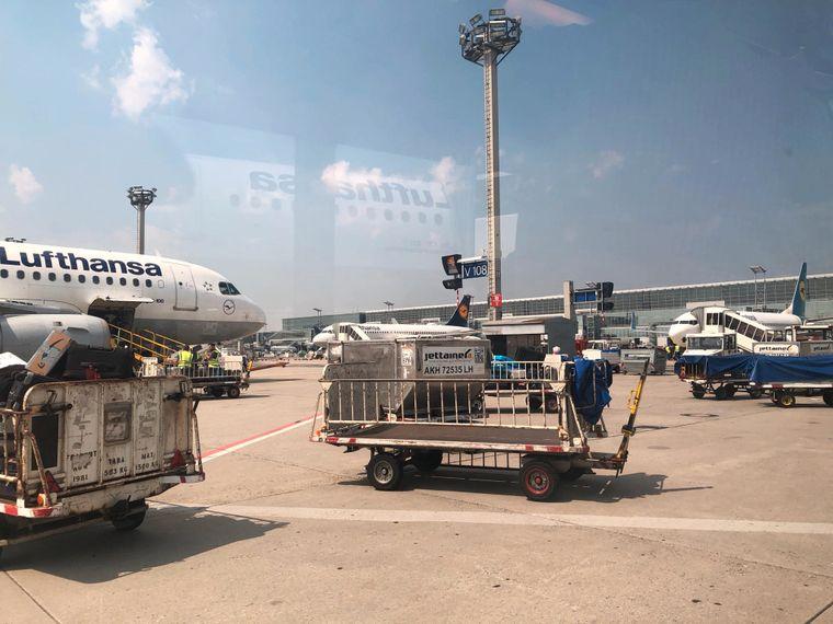 Stillstand auf dem Flughafen Frankfurt.