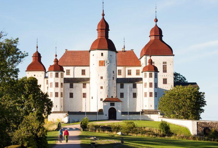 Schloss Läckö auf der Halbinsel Kållandsö im Süden des Vänern-Sees ist ein beliebtes Ausflugsziel – auch wegen seines Gartens.