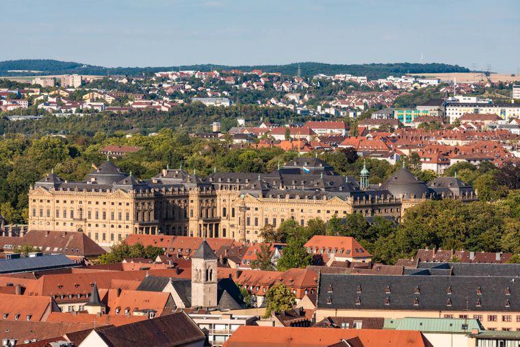 Die barocke Würzburger Residenz.
