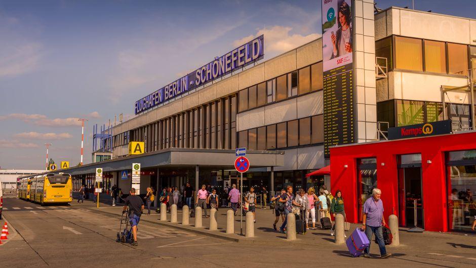 Terminal A am Flughafen Berlin-Schönefeld.