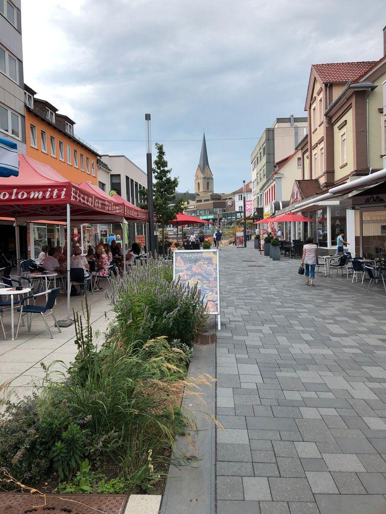 Die Korbacher Innenstadt.
