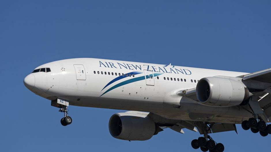 Ein Flugzeug der Fluglinie Air New Zealand.