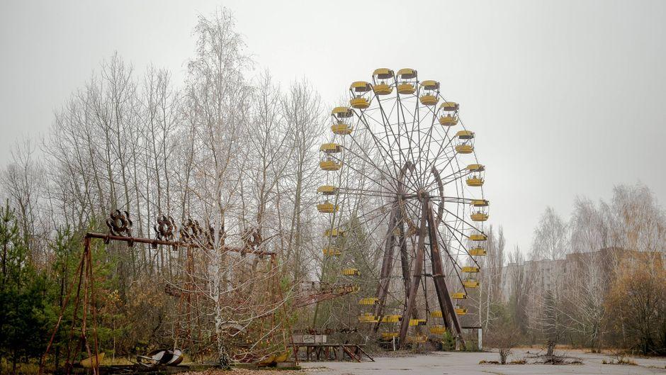 Vergnügungspark Prypjat in der Ukraine nahe Tschernobyl.