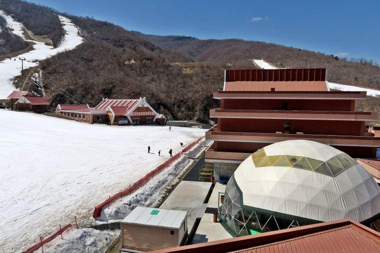 Nordkoreas einziges Skigebiet.