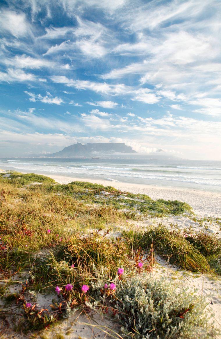 Der Bloubergstrand in Südafrika.