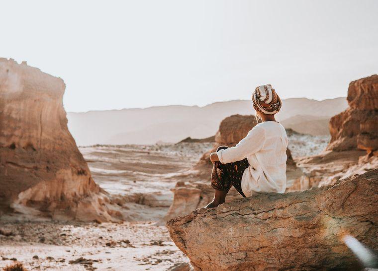 Unterwegs in der Sinai-Wüste in Ägypten.