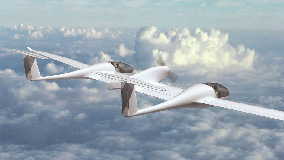 Das mit Wasserstoff betriebene Passagierflugzeug Hy4 wurde im Jahr 2016 entworfen.
