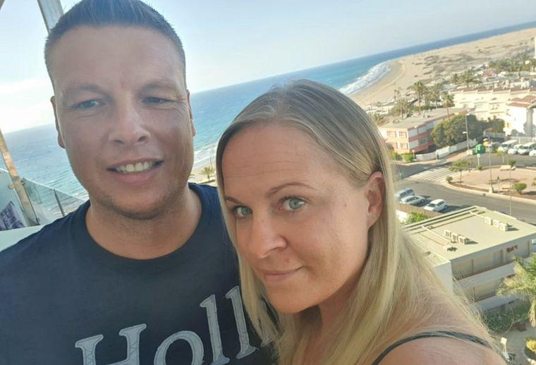 Nadine S. und ihr Mann haben erst nach der Landung auf Gran Canaria von der Reisewarnung für die Kanaren erfahren.