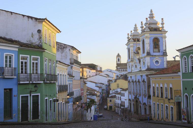 Pelourinho gehört zur Oberstadt von Salvador da Bahia