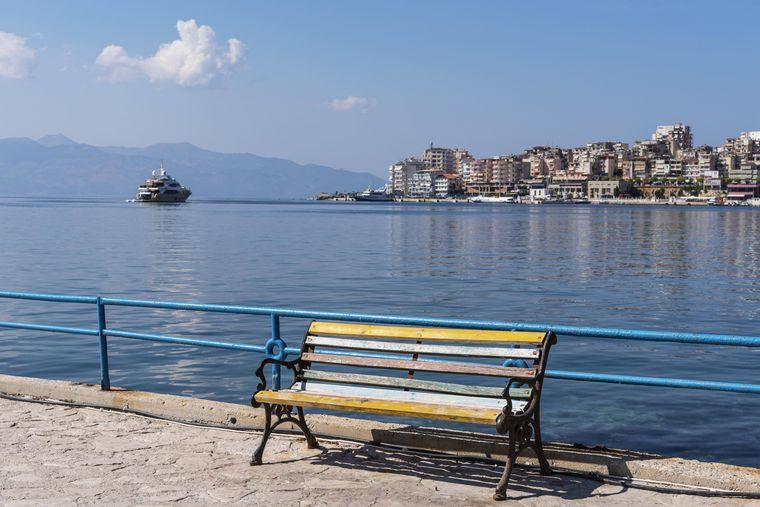 Albanien am Ionischen Meer.