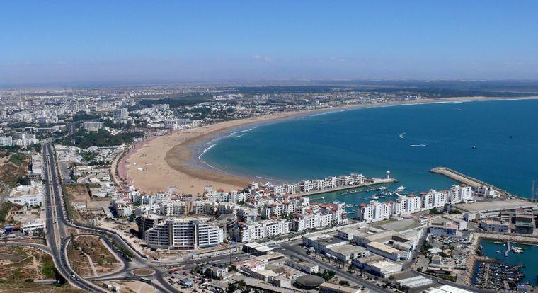 Blick von der Kasbah auf Agadir.