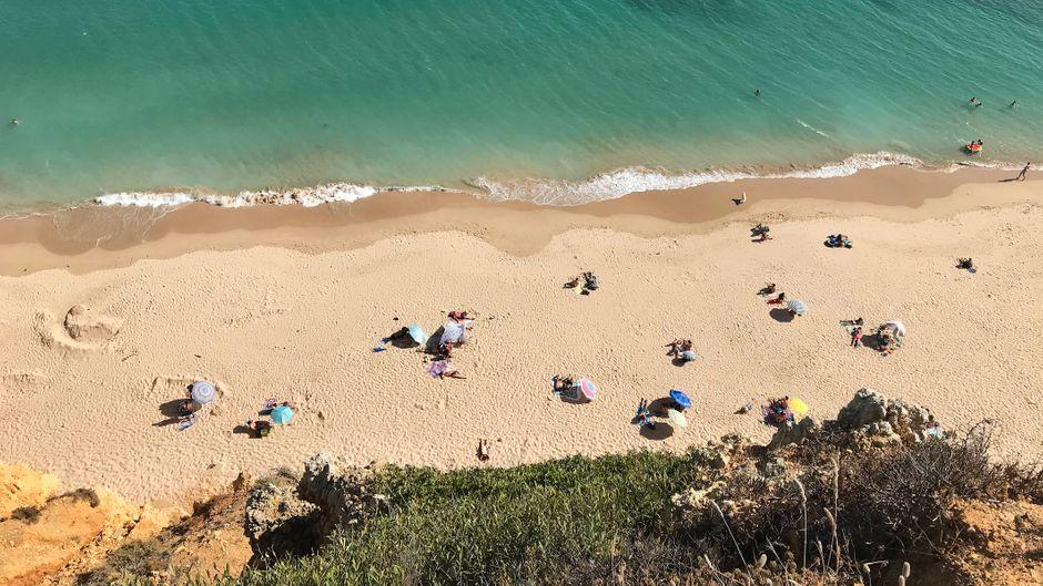 Lagos an der Küste der Algarve.
