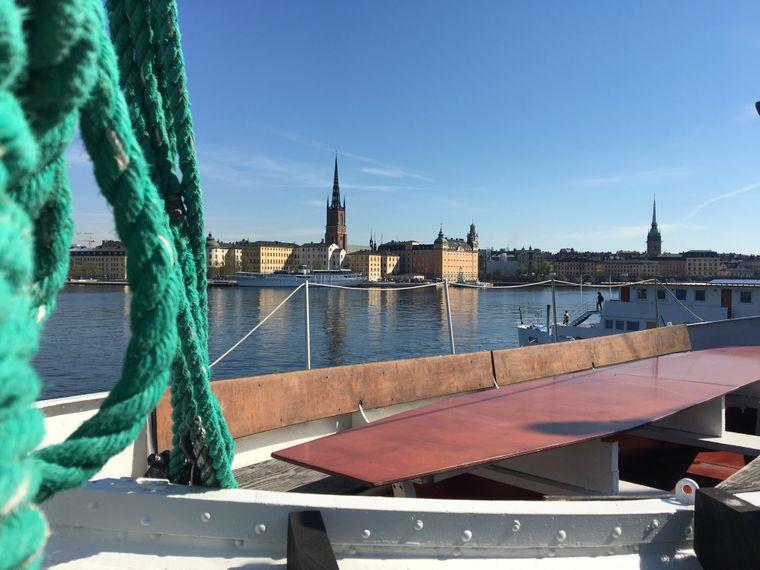 Der Ausblick vom Rygerfjord Hotel & Hostel in Stockholm Richtung Gamla stan