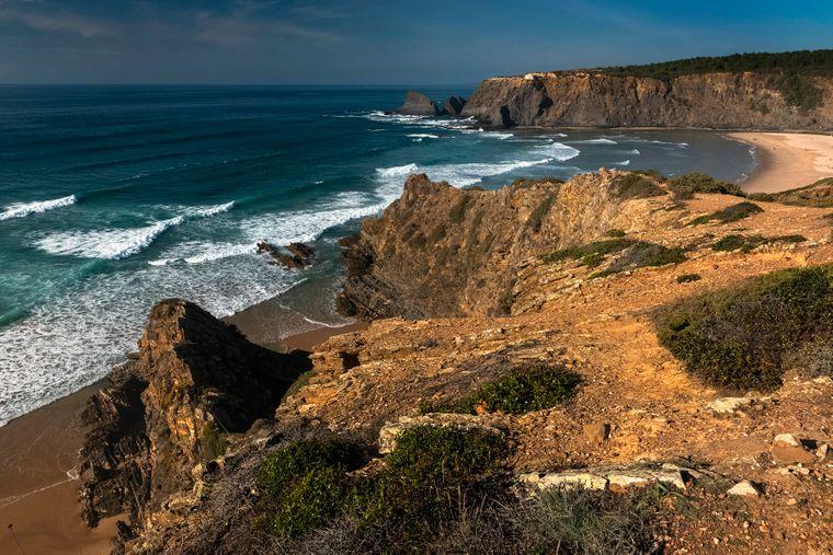 Praia Odeceixe an der Algarve.