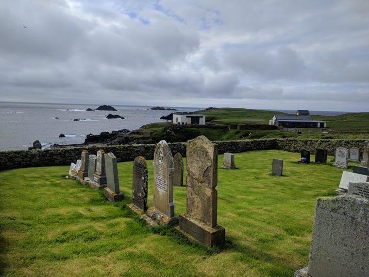Der Friedhof von Fair Isle.