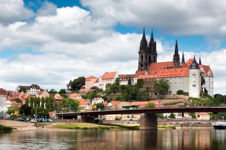 Die Albrechtsburg in Meißen ist die Wiege Sachsens. Jahrhundertelang war sie Herrschaftssitz der Wettiner.