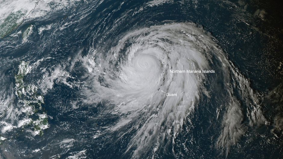 "Ein Satellitenbild des Super-Taifuns ""Hagibis""."