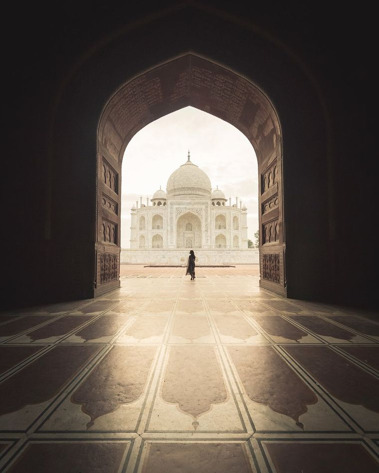 Der Taj Mahal in Indien.