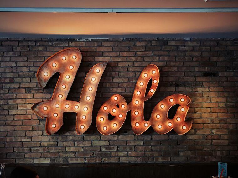"""Leuchtschild """"Hola"""""""