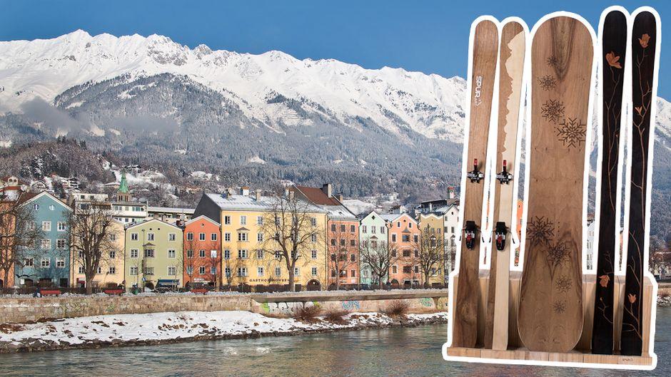 Bei der Werkstatt Spurart in Innsbruck haben Reisende die Chance, sich ihre Skier selbst zu bauen.