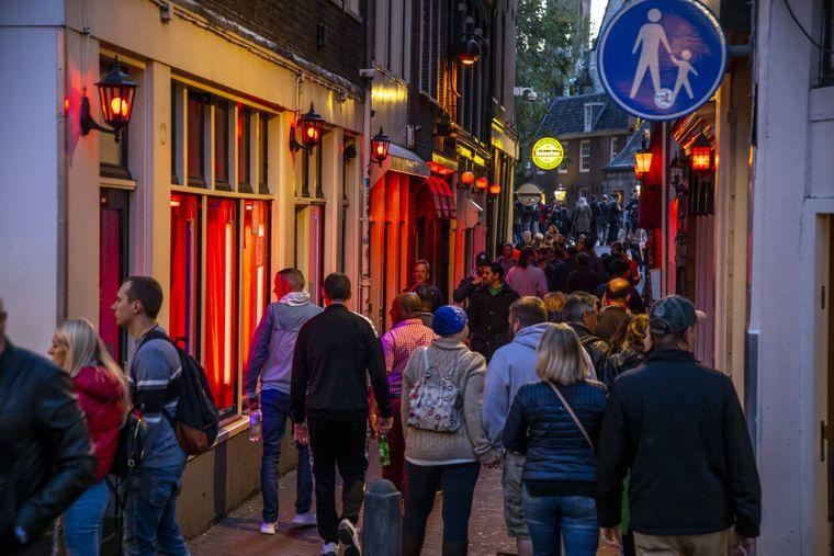 Rotlichtviertel von Amsterdam.