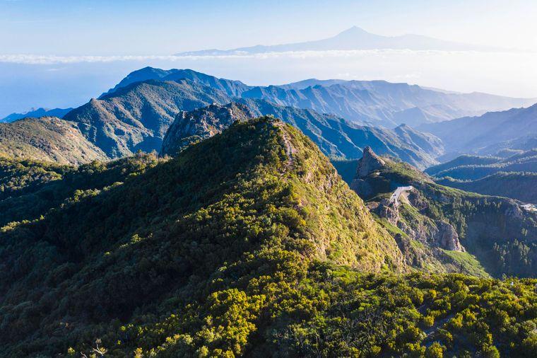Der Aussichtspunkt Mirador del Morro de Agando im Nationalpark Garajonay.
