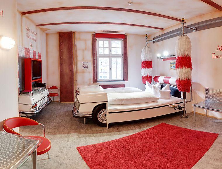 V8Hotel - Themenzimmer Waschanlage.